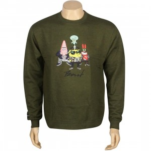 BAIT x SpongeBob Group Crewneck (olive)