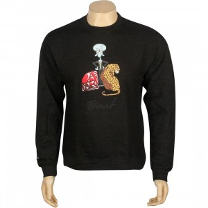 BAIT x SpongeBob Squidward Crewneck (gray / charcoal / heather)
