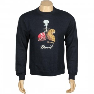 BAIT x SpongeBob Squidward Crewneck (navy / heather)