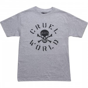 BAIT CruelWorld Bones Tee (heather grey / black)