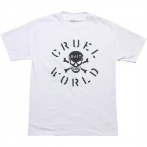 BAIT CruelWorld Bones Tee (white / black)