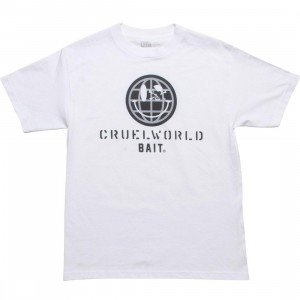 BAIT CruelWorldwide Tee (white / black)