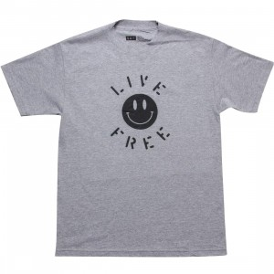 BAIT CruelWorld Live Free Tee (heather grey / black)