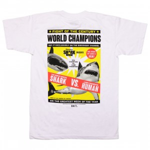 PREORDER - BAIT x Discovery Channel Men Shark Week Poster Tee (white)