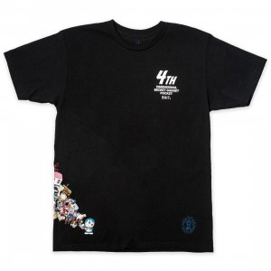 BAIT x Doraemon Men 4D Tee (black)