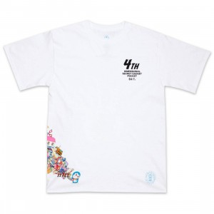 BAIT x Doraemon Men 4D Tee (white)