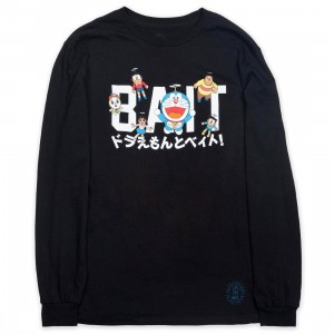 BAIT x Doraemon Men Logo Long Sleeve Tee (black)