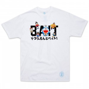 BAIT x Doraemon Men Logo Tee (white)