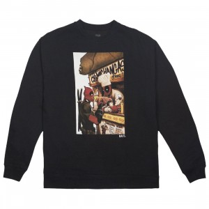BAIT x Marvel Men Deadpool Chimichanga Crewneck Sweater (black)