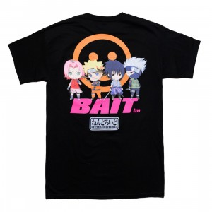 BAIT x Goodsmile x Nendoroid Naruto Men Group Tee (black)