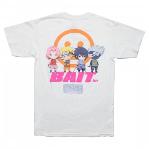 BAIT x Goodsmile x Nendoroid Naruto Men Group Tee (white)