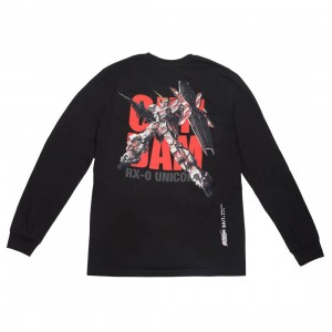 BAIT x Gundam Universe Men Unicorn Gundam Long Sleeve Tee (black)