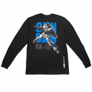 BAIT x Gundam Universe Men RX-78-2 Gundam Long Sleeve Tee (black)