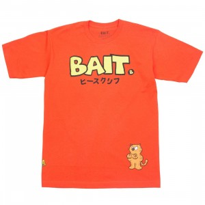 BAIT x Heathcliff Men Japanese Logo Tee (orange)