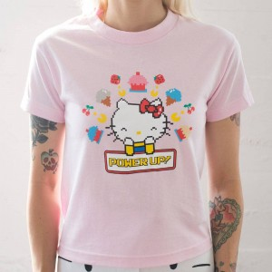 BAIT x Sanrio x Pac-Man Women Power Up Tee (pink)