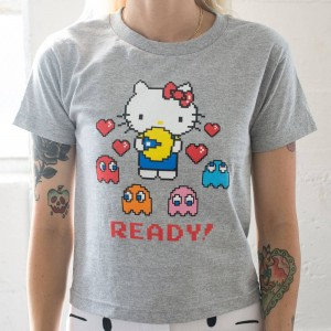 BAIT x Sanrio x Pac-Man Women Ready Tee (gray / heather)
