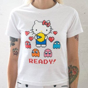 BAIT x Sanrio x Pac-Man Women Ready Tee (white)