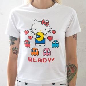 BAIT x Sanrio x Pac-Man Women Ready Tee (white)