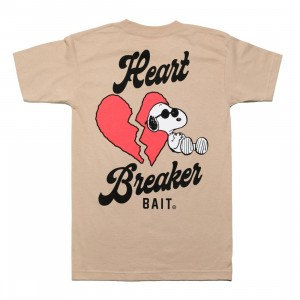 BAIT x Snoopy Men Heart Breaker Tee (sand)