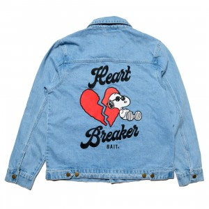 BAIT x Snoopy Mens Heartbreaker Denim Jacket (blue / denim)