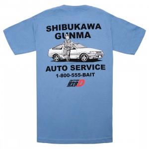 BAIT x Initial D Men Auto Service Tee (blue / carolina)