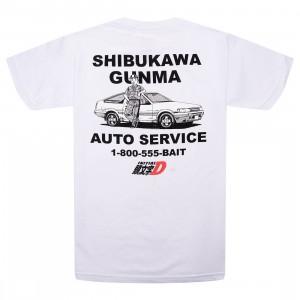 BAIT x Initial D Men Auto Service Tee (white)