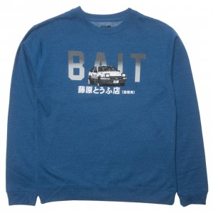 BAIT x Initial D Men BAIT Logo Design Crewneck (blue)