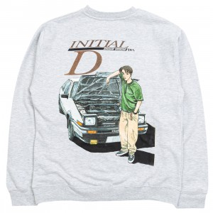 BAIT x Initial D Men Initial D Color Crewneck Sweater (gray)