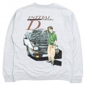 BAIT x Initial D Men Initial D Color Crewneck Sweater (gray)
