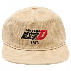BAIT x Initial D Racing Corduroy Snapback Cap (tan)