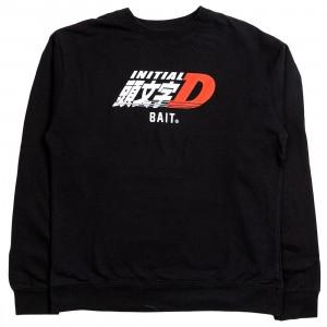 BAIT x Initial D Men Logos Crewneck Sweater (black)