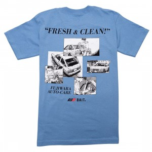 BAIT x Initial D Men So Fresh So Clean Tee (blue)