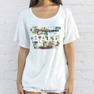 BAIT Women Shoulder Box Tee - Made In LA (white)