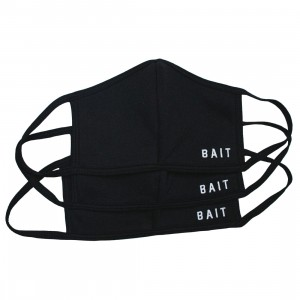 BAIT 3 Pack Embroidered Logo Face Masks (black)