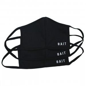BAIT 3 Pack Embroidered Logo Face Masks (black)