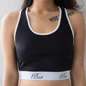 BAIT Women Athletic Crop Top - Made In LA (black)
