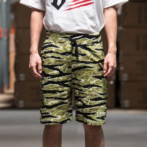 BAIT Basics Sweat Shorts (camo / tiger camo)