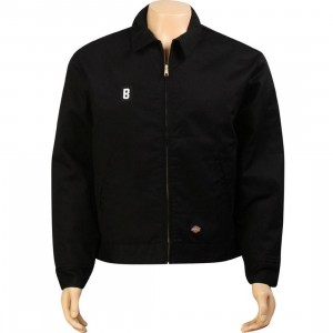 BAIT B Logo Eisenhower Jacket - Dickies (black / white)