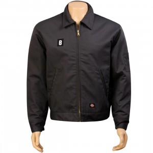 BAIT B Logo Eisenhower Jacket - Dickies (dark grey / white)