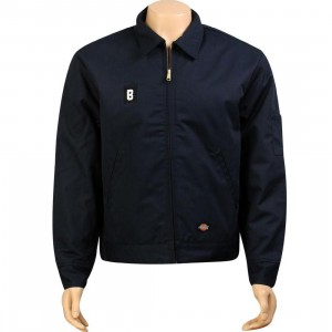 BAIT B Logo Eisenhower Jacket - Dickies (navy / white)
