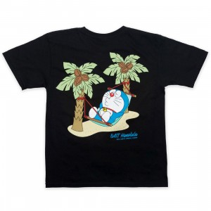 BAIT x Doraemon Youth Honululu Tee (black)