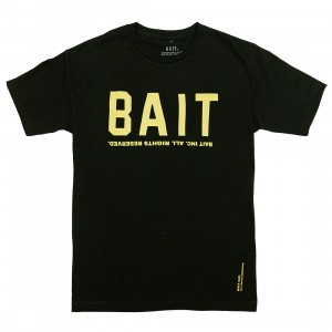 BAIT Men BAIT Logotype Tee (black / gold)