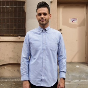 BAIT Oxford Long Sleeve Shirt (blue)