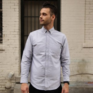 BAIT Oxford Long Sleeve Shirt (gray)