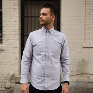 BAIT Oxford Long Sleeve Shirt (gray)