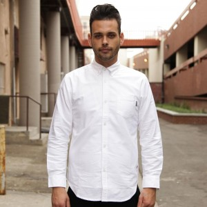 BAIT Oxford Long Sleeve Shirt (white)