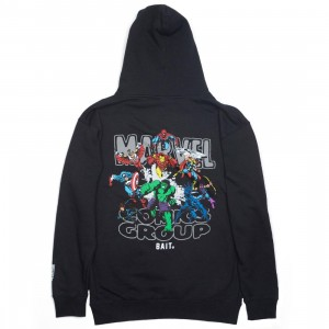 BAIT x Marvel Comics Men Avengers Group Hoody (black)