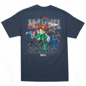 BAIT x Marvel Comics Men Avengers Group Tee (navy)