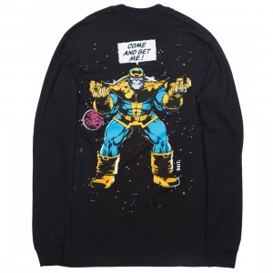BAIT x Marvel Comics Men Infinity Gauntlet Thanos Long Sleeve Tee (black)