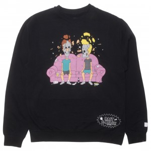 BAIT x MTV Beavis And Butthead x Gondek Men Couch Crewneck Sweater (black)